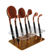 Toraway 9 Hole Oval Makeup Brush Holder Drying Rack Organiser Cosmetic Shelf Tool