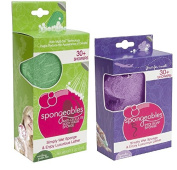 Combo Pack Spongeables 30+ Anti-Cellulite Body Wash Infused Sponge 4 FL & Pedi-Scrub Infused Foot Buffer 30+ uses 2 FL