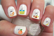 Smoothie Time Mice Nail Art Decals