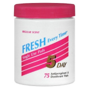 5 Day Antiperspirant and Deodorant Pads, Regular Scent - 75 Each