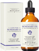 Ultra Pure Rosemary Essential Oil with 30% 1,8-Cineole & 20% Camphor - Brooklyn Botany - 100% Pure, 30ml, Great for Hair Strengthening & Growth, Dandruff as well Pain Relief for Men and Women
