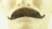 European Moustache MEDIUM BROWN - 100% Human Hair - no. 2012 - REALISTIC! Perfect for Theatre - Reusable!
