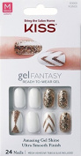 "**NEW** Kiss Nails GEL FANTASY ""KGN06"" (TO THE MAX) Medium Design Nails w/Adhesive Tabs & Glue"