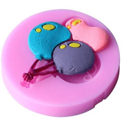Mr.S Shop 1PCS Balloon Shape Silicone Mould Fondant Cake Biscuits Soap Bakware Mould ,Christmas Gift,Small Size