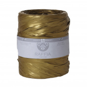 Jillson Roberts Bulk Spool 1cm x 200m Poly Raffia Available in 22 Colours, Gold