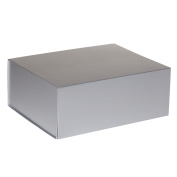 Jillson Roberts 24-Count Large Magnetic Closure Presentation Gift Boxes, Metallic Silver Matte