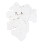 Tinksky 100pcs Heart Shaped Paper Card Valentines / Wedding/ Wish Tree Tags ,Wedding Favours