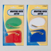 WRAPPING PAPER CUTTER 2PK 2STYLES/colours/PK 12PC MDSGSTRIP, Case Pack of 48