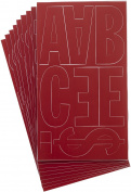 Westcott Letter Craft Permanent Vinyl Lettering, Franklin Gothic, 10cm , Red