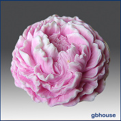 Ruffled Peony- Detail of High Relief Sculpture - Silicone Soap/polymer/clay/cold Porcelain Mould