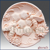 Busy Bee Plate - Detail of High Relief Sculpture - Silicone Soap/polymer/clay/cold Porcelain Mould