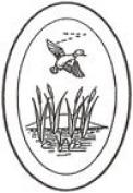 10cm x 15cm Oval Engraved Flying Duck Premium 1.3cm Bevelled Glass - Pkg of 4