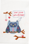 Bucilla My 1st Stitch Counted Cross Stitch Kit (13cm by 18cm ), 46040 Owl Love You Forever
