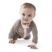 baby deedee 1 Piece Long Sleeve Footless Romper, 12-18 Months, Heather Mocha