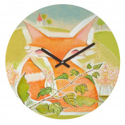 DENY Designs Cori Dantini Little Fox Round Clock, 30cm Round