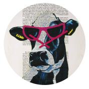 DENY Designs Coco De Paris Jetset Cow Round Clock, 30cm Round