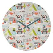 DENY Designs Wendy Kendall Mini Camper Round Clock, 30cm Round