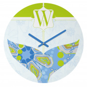 DENY Designs Jennifer Hill Mister Whale Round Clock, 30cm Round