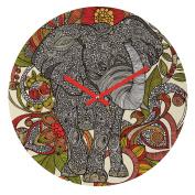 DENY Designs Valentina Ramos Bo The Elephant Round Clock, 30cm Round