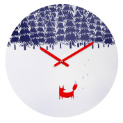 DENY Designs Robert Farkas Alone In The Forest Round Clock, 30cm Round