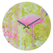 DENY Designs Madart Inc. Flamingo Dance Round Clock, 30cm Round