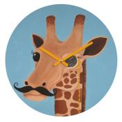 DENY Designs Mandy Hazell Gentleman Giraffe Round Clock, 30cm Round