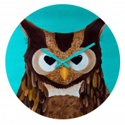 DENY Designs Mandy Hazell Owl Love You Round Clock, 30cm Round