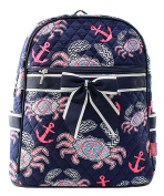 J & C Family Owned Crab Quilted 33cm Backpack