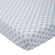 giggle Printed Crib Sheet, Blue