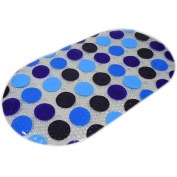 Fullkang 69*39.5cm PVC Non Slip Shower Mat Bathroom Floor Mat with Suction Cups Safety