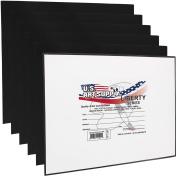 US Art Supply 28cm X 36cm Black Professional Artist Quality Acid Free Canvas Panels 6-Pack