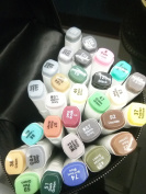 30Color SET TOUCH New 6 Alcohol Graphic Art Twin Tip Pen Marker Architecture
