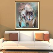 Whitelotous Wolf Totem 5D Diamond DIY Embroidery Painting Home Decor 30cm x 36cm