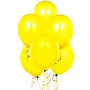 28cm Latex Balloons Yellow Pkg/100