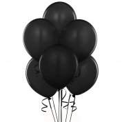 28cm Latex Balloons Metallic Black Pkg/100