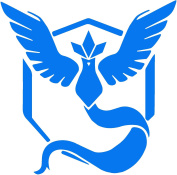 Team Mystic Inspired- 3x Blue Vinyl Decal