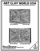 Flexistamps Texture Sheet Set South Seas Tribal (Including South Seas Tribal and South Seas Tribal Inverse)- 2 Pc.