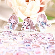 40pcs Self-made Watercolour Lovely Girl Scrapbooking Stickers DIY Photo Albums Deco Diary Deco