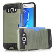 Galaxy J7 (2016) Case, NOKEA [Card Slots] [Dual Layer] [Shock Protection] [Anti-Scratches] Durable PC + TPU Premium Armour Hybrid Protective Case Cover for Samsung Galaxy J7 (2016)