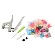 XHSP 1 set KAM Snap Press Plier Buttons Fastener Kit & 150 sets T5 Snap Resin Buttons Home Hand Tool for Nappies Clothing DIY