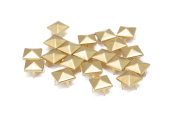 Trimming Shop 100 Pieces Gold Pyramid Studs Hand Pressed Or Machine Set Rivets Suitable For Leather Crafting Decorating And Repairing 6mm