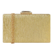 JNB Women's Square Leather Box Evening Clutch