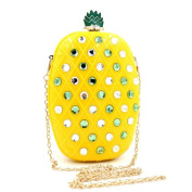 Shiratori Women Acrylic Pineapple-shaped Evening Bags Purses Clutch Vintage Banquet Handbag