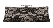Vintage Lace Cover Evening Handbag Clutch Bowknot Bar Clasp Prom Wallet Box