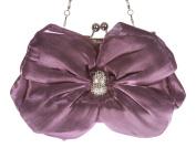 Satin Bow Clutch Purse Bling Rhinestone Clutch Evening Bag