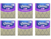KLEENEX Ultra Soft Facial Tissue, 3-Ply, 75 Ct, Pack of 6
