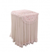 Princess Style And Elegant Floral Pattern Drum Washing Cloth Dust Cover