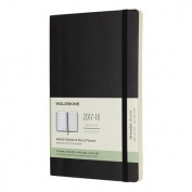 Moleskine 18 Month Weekly Planner, Large, Black, Soft Cover