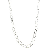 Sterling Silver Marquise-shaped Link Nickel Free Chain Necklace