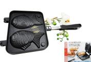 Personal Size Traditional Cast Iron Japanese Taiyaki Fish Shaped Hot Dessert Waffle Cake Maker Pan